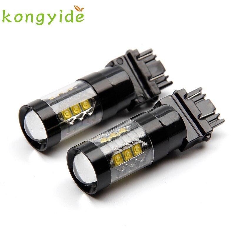 2 Pcs T25 3157 car led lights 50W canbus festoon light bulbs brake lights fe9