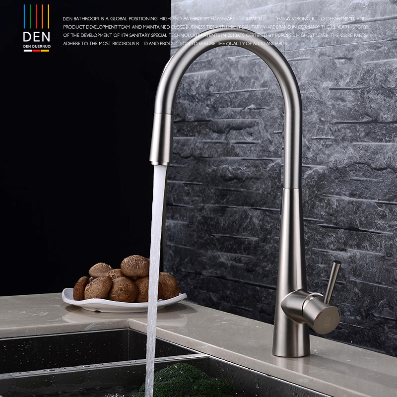 Brushed copper kitchen faucet Pull-out type vegetables basin bowl rotating retractable sink faucet hot and cold water штатив monopod z07 5 bluetooth black for selfie