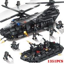 Военный Спецназ команда спецназ транспорт вертолет строительные блоки Совместимые Legoings город армия Кирпичи игрушки для детей