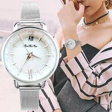 Waterproof Simple Factory Price Steel Trap Wirst Fashion Minimalism Black White Delicate Quartz Watch Fine Jewelry for Female