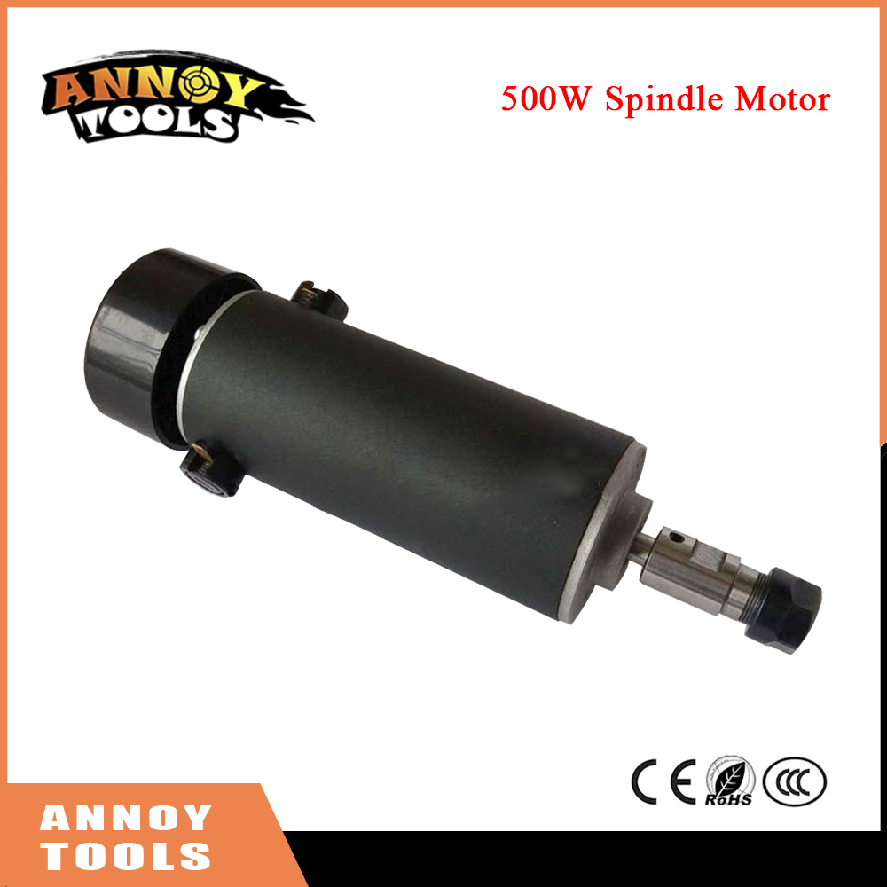 500W DC spindle motor ER11-3.175mm collet 52mm diameter 110VDC CNC Carving Milling Air cold Spindle Motor For Engraving dc48v 400w 12000rpm brushless spindle motor air cooled 529mn dia 55mm er11 3 175mm for cnc carving milling
