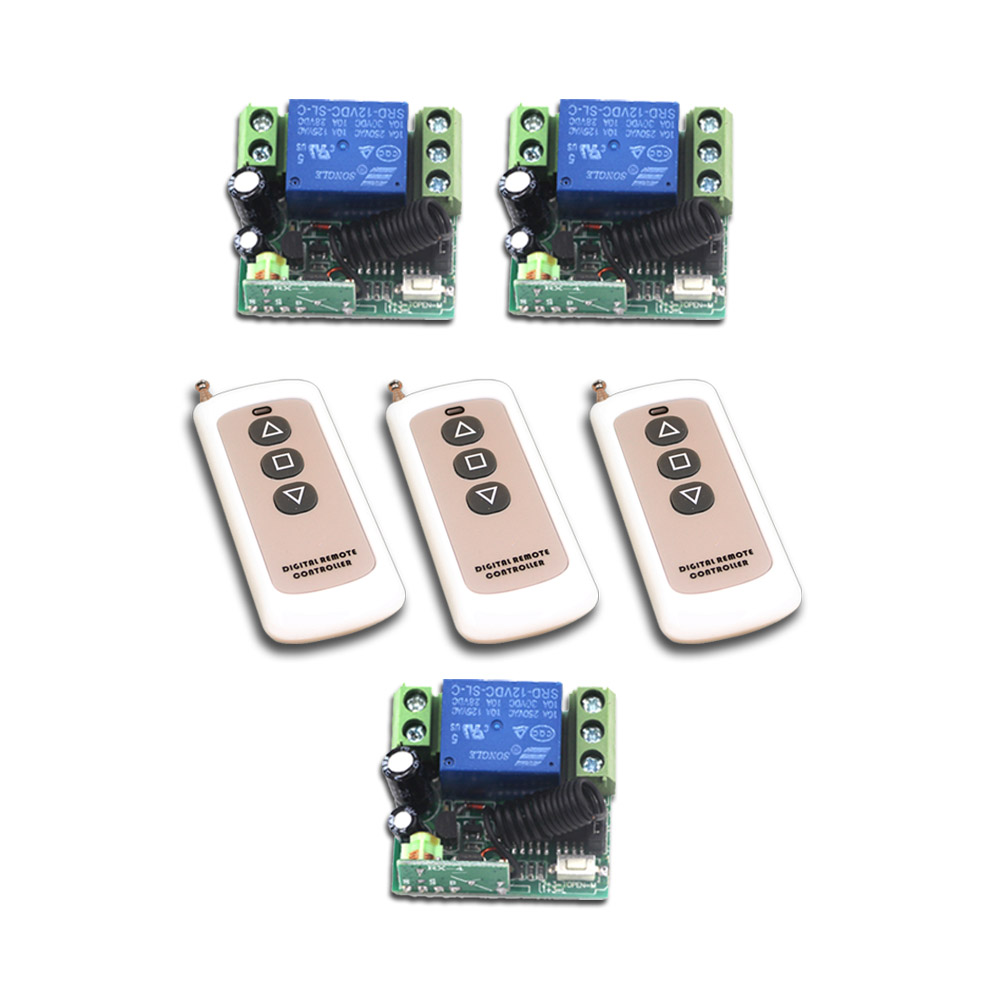 New Style DC12V Mini RF Wireless Remote Control Switch 3pcs Transmitter + Remote Control 3pcs Receiver Safe Low Price top quality 16ch wireless remote control switch rf 3pcs transmitter 1pcs receiver dc24v 7a remote control switch for water pump