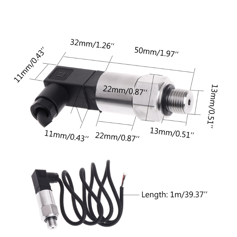 Pressure Transmitter Pressure Transducer Sensor 0-10bar 9-32VDC G1/4 4-20mA 0.5% G25 Great Value April 4