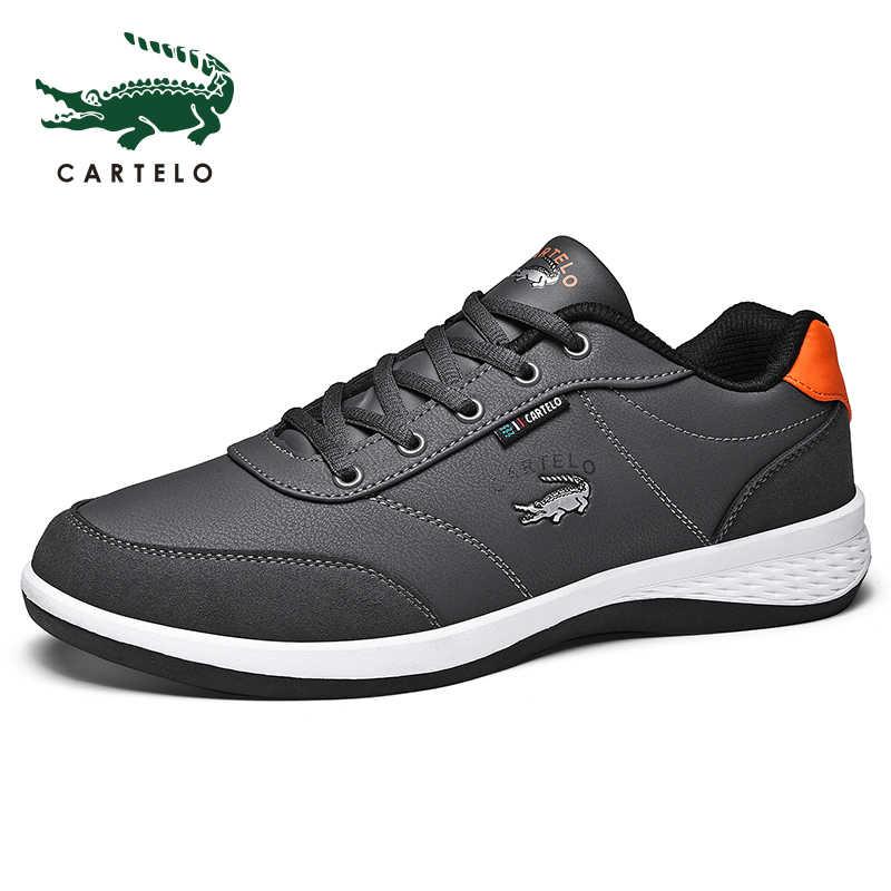 CARTELO Мужская обувь спортивная мужская обувь для отдыха корейская модная тенденция с сеткой дышащий Легкий удобные кроссовки для мужчин
