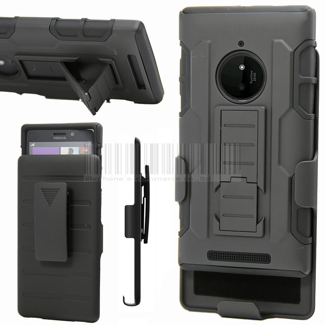 Case For Nokia Lumia 830 Heavy Duty Rugged Hybrid Shockproof Cover Holster