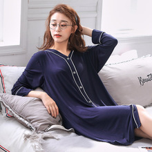 Women Oversize Nightgown Modal Cotton Soft Sleep dress V-Neck Loose Plus Size 4XL 5XL 6XL Summer Sleepwear Home Clothing