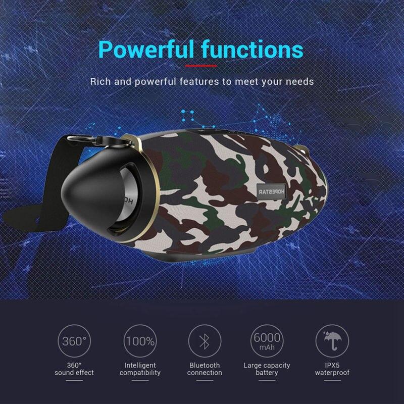 Hopestar H20 Rugby 30W haut-parleur Bluetooth colonne Pc sans fil Portable Mini étanche méga basse stéréo extérieur caisson de basses Tf Usb - 4