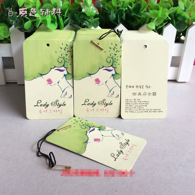 High Quality In Stock Garment Accessories Elegant Clothing Print Paper Hang Tags Jewelry Tags