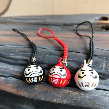 Japan Omamori Damo Dharma teléfono colgante cadena colgante llaveros para hombre bolso encanto
