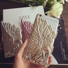 Fashion Wings Of Angel 3D decoration Case For iPhone 6 4.7 Metal Aluminum Phone Case housing Free Shipping
