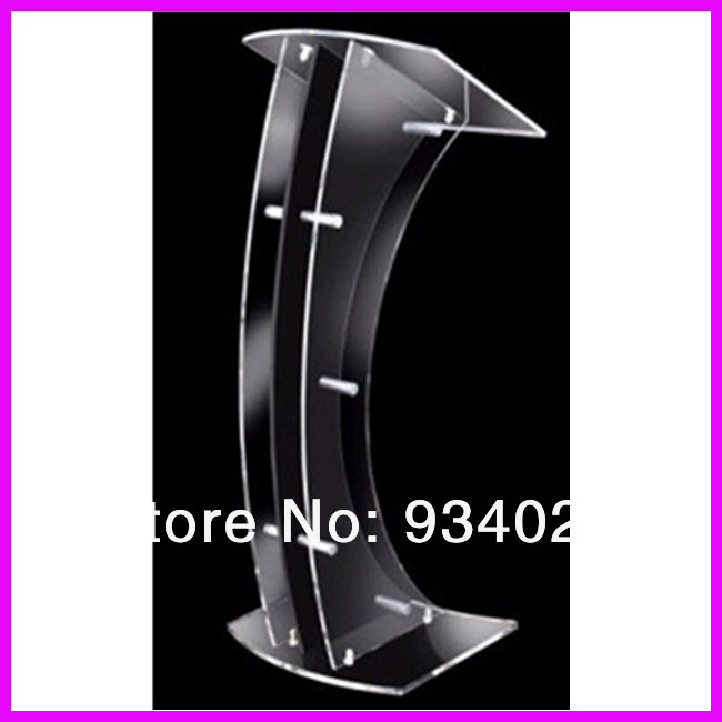 Curve Detachable Acrylic Lectern Dais Platform customized acrylic lectern crystal podium pulpit