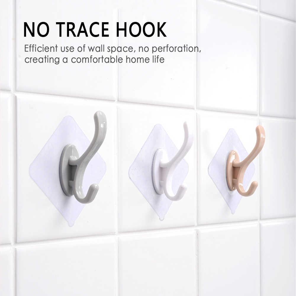 1 Pza gancho adhesivo colgador de llave gancho de hierro forjado gancho montado en la pared Bola de baño ganchillo almacenamiento organizador de cocina
