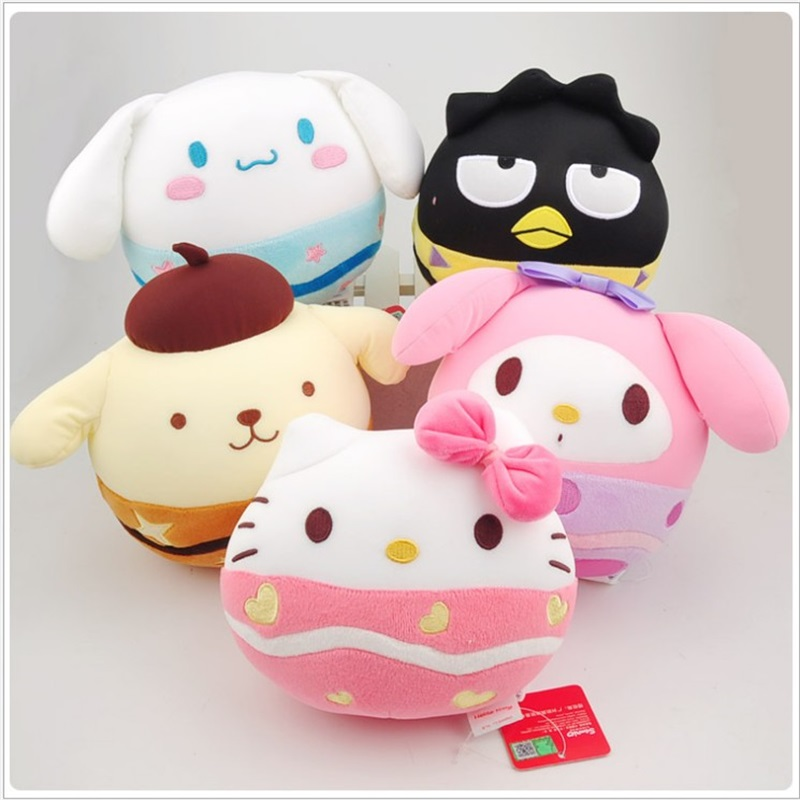 20cm Genuine Hellokitty doll plush toys cute Hello Kitty Pillow Plush Toys Stuffed Doll Baby Appease Toy Children Christmas gift children s pillow toys fat hamster doll plush guinea pig toy super cute good quality genuine