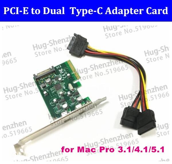2 porty USB C USB 3.1 typu C karta PCI Express pci e 4x do usb3.1 typu C adapter Super Speed dla komputerów MAC PRO os x 10.9 10.14 w Karty rozszerzające od Komputer i biuro na AliExpress - 11.11_Double 11Singles' Day 1