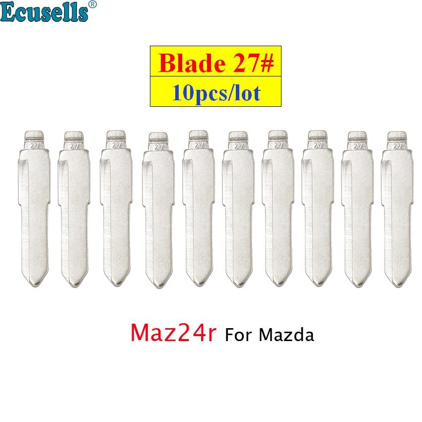 Универсальные пульты дистанционного управления 10 шт./лот, откидной ключ без резьбы, лезвие 27 # для дистанционного ключа KD Maz24R для Mazda M3 M6 M5