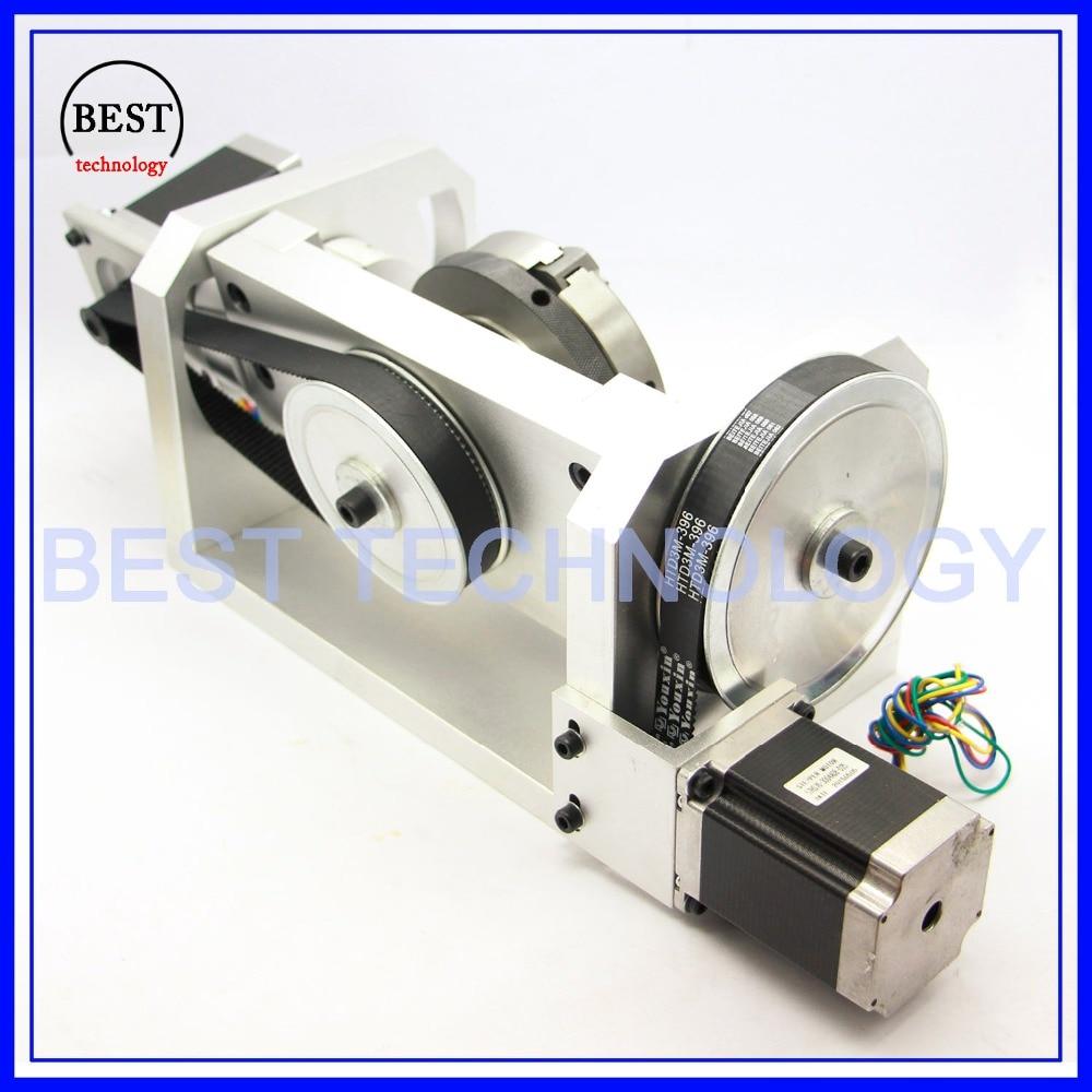 100mm CNC 4th axis 5th eje divisor CNC/eje de rotación a eje kit ...