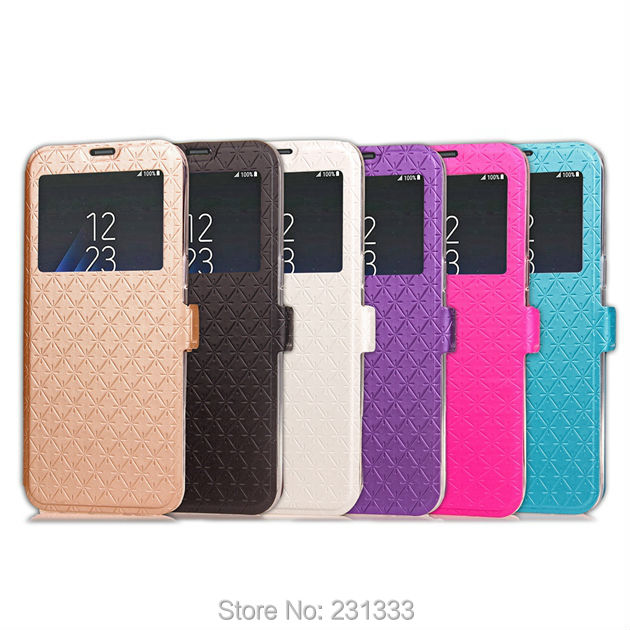 4474428d5c5 Caller ID Diamond Flip Leather Pouch For Samsung Galaxy S8 PLUS J5 J7 Prime  A3 A5 For Huawei P8 Lite 2017 Honor 5C TPU Card 1pcs-in Wallet Cases from  ...