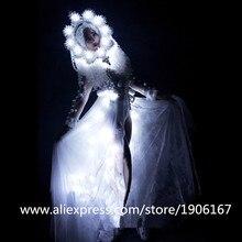 Новый Свет пикантные женские вечерние платье DS Костюмы подсветкой танца Костюм DJ певица Косплэй маскарадная одежда