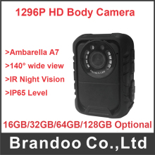 Super HD 1296P night vision body cameras on police with built-in GPS