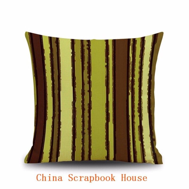 US $3.9 39% OFF|PANFELOU 45*45 cm komfortable Bark braun grün Kissenbezug  für wohnzimmer schlafzimmer sofa-in Kissenbezug aus Heim und Garten bei ...