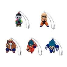 10pcs PVC Keychain Cartoon Figure Dragon Ball Key Chain chain Holder Fashion Charms Trinkets