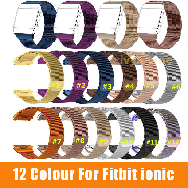 Stainless-Steel Fitbit Strap Wrist-Bracelet Ionic-Band Smart-Watch Sports Colourful