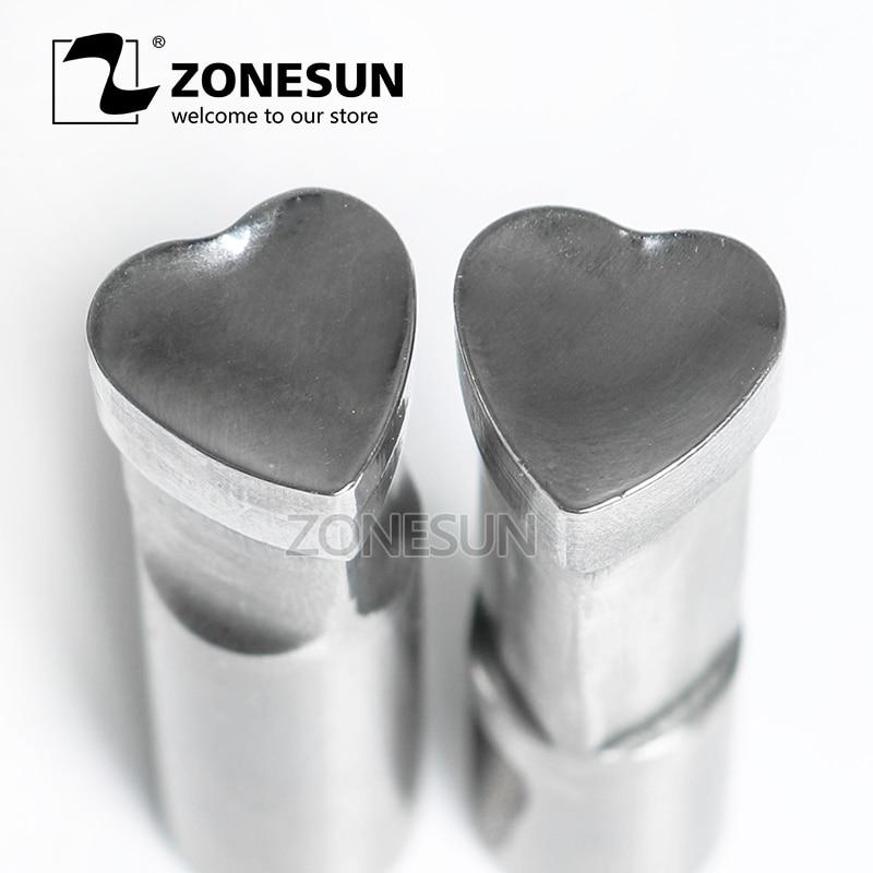 все цены на ZONESUN Heart Shape Tablet Press 3D Punch Stamping Mold Candy Milk Punching Die Custom Logo For Single Punch Die Machine онлайн