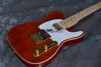 China OEM firehawk shop guitar Hot selling T Electric Guitar Stained maple, tiger stripes maple wood color