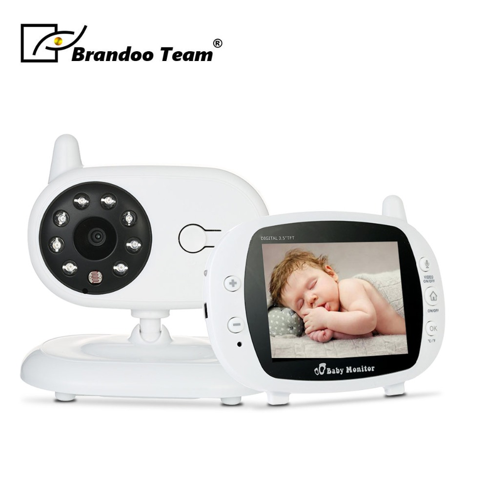 3.5 inch Wireless Audio Video Baby Monitor Security Camera 2 Way Talk Nigh Vision IR LED Temperature Monitoring with Lullabies baby sleeping monitor color video wireless with camera baba electronic security 2 talk nigh vision ir led temperature monitoring