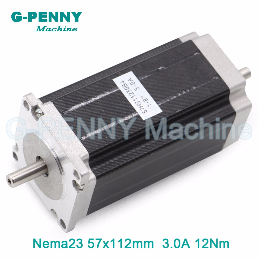 CNC Stepper Motor Double Shaft NEMA 23 57x112mm stepping motor cnc 3N.m 3A 428Oz-in for 3D printer CNC Router engraving machine цена