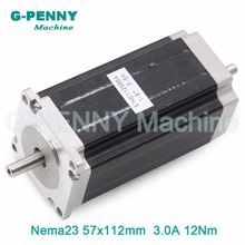 цена на NEMA 23 CNC Stepping motor 57x112mm double shaft nema23 3N.m stepper motor 3A 428Oz-in for 3D printer CNC engraving  machine