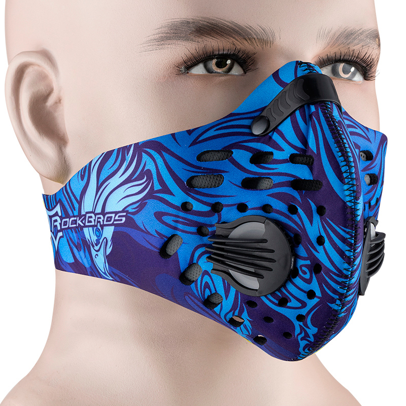 ROCKBROS KN95 Anti-dust Cycling Mask Filter Mascarilla Respirator PM2.5 Activated Carbon Face Mask Bike Cover Face Shield