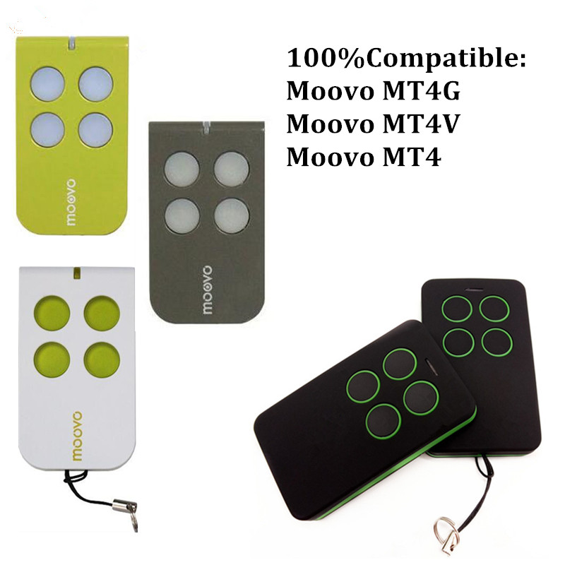 2018 new MOOVO MT4 Remote Control Gate Garage Door Fob 433 92mhz rolling code free shipping