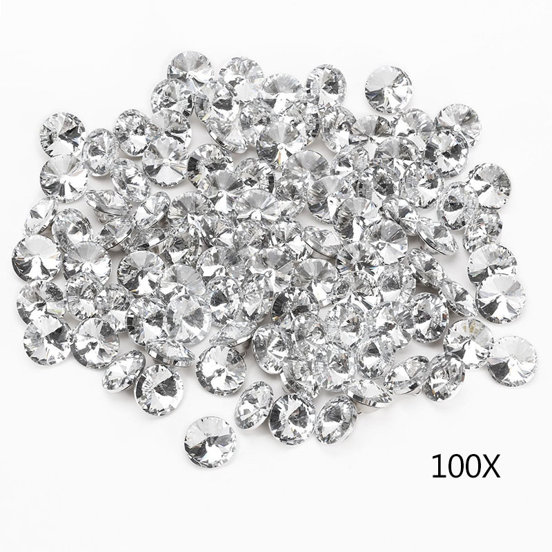 100pcs 25MM Clear Faceted Glass Crystal Diamante Rhinestone Silver Buttons ALI88 semantic association of faceted taxonomies