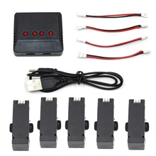 5pcs Battery For Jjrc H37 Baby Mini Drone Battery Rc Drones Spare Part With Lipo Battery 3.7v 400MAH Accessories Quadcopter Kit