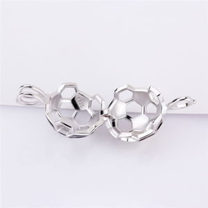 Image 4 - CLUCI 3pcs 925 Sterling Silver Soccer Ball Pendant Women Jewelry Gift Real Silver 925 Soccer Shaped Pearl Cage Locket SC373SB