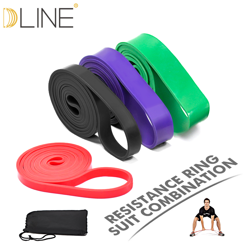 dline Resistance Bands Sets 4 Levels Natural latex Athletic Power Rubber Bands Heavy Duty Workout Fitness Equipment эспандер nike lateral resistance bands heavy цвет черный оранжевый