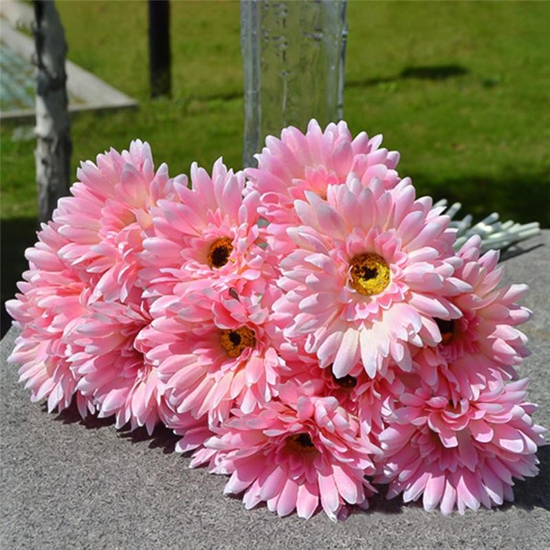 10 Teile Los Gerbera Daisy Kunstliche Blume Fur Dekoration Seide