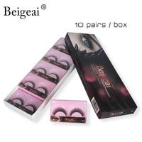 Hot Sell Eye Lashes Extension Kit Makeup 10Pairs Long Thick Fake Eyelash Beigeai Brand Natural Curl