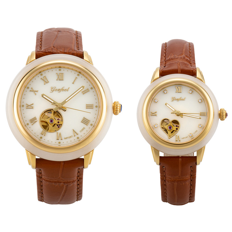 2020 Limited Hetian Jade Lovers To Watch Fully Automatic Hollow Out Mechanical Watches Match A Issuing Certificates