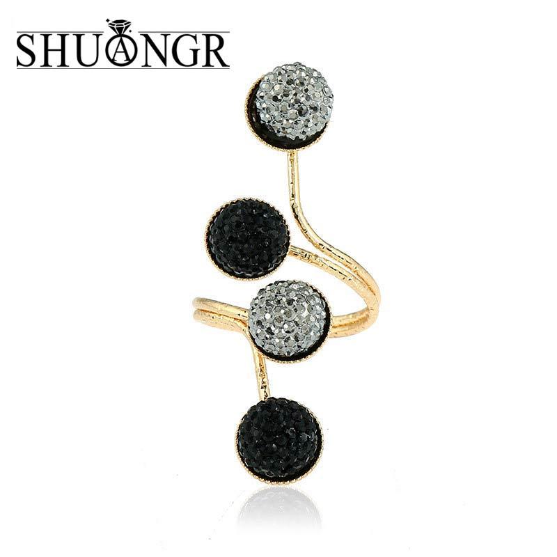 Best deals ) }}SHUANGR Gold&Silver Color anelli 4 Rows