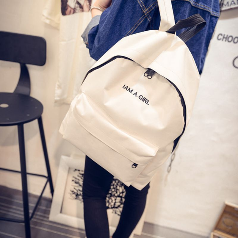 New Simple Fashion Canvas Bag Female Korean Backpack For Women School Student Teenage Girl Mochila Escolar Women  Backpack rdgguh backpack bag new of female backpack autumn and winter new students fashion casual korean backpack