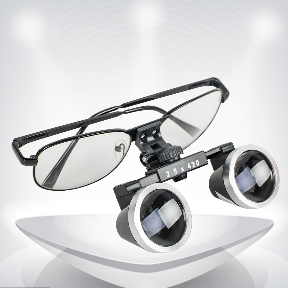 2018 New Style High-end Luxury New Dentist Black Dental Surgical Medical Binocular Loupes 2.5X 420mm Optical Glass Loupe high end luxury 2 5x 320mm dentist surgical medical binocular loupes led dental lampe headlight optical glass loupe set black