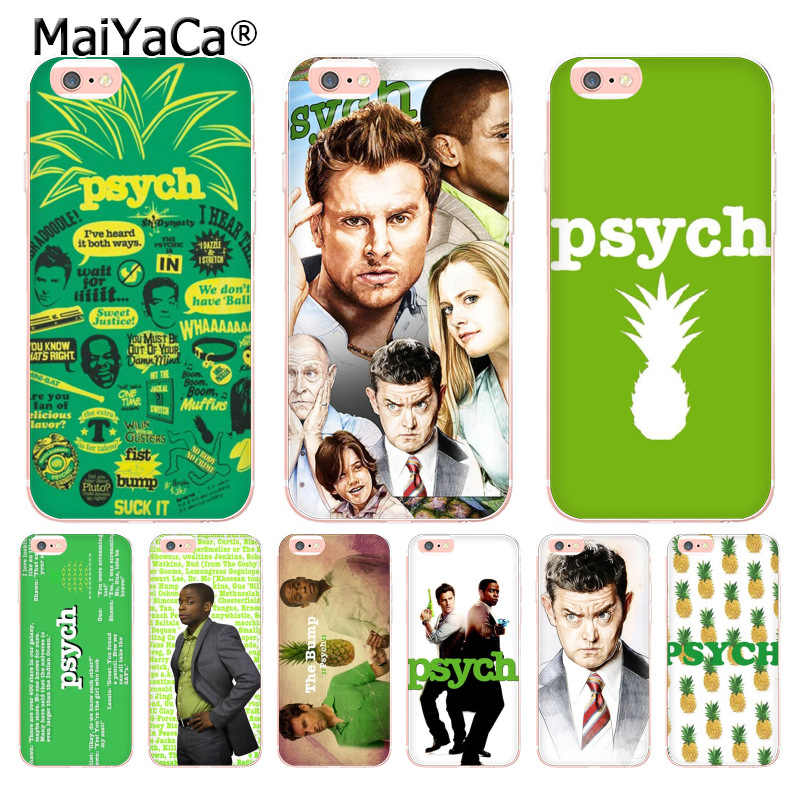 MaiYaCa psych shawn and gus Coque Shell Phone Case for Apple iPhone 8 7 6 6S Plus X 5 5S SE 5C XS XR XSMAX
