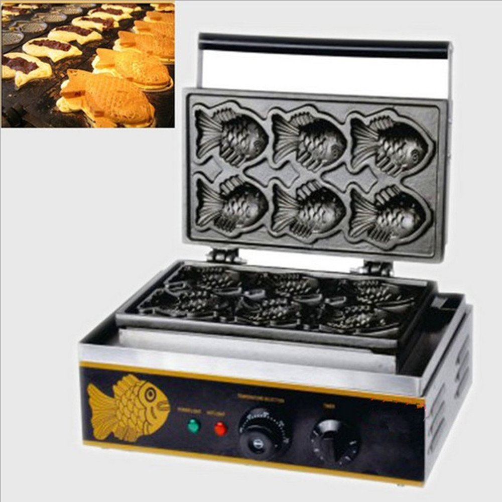 220v fish cake waffle maker fish shape cookie machines taiyaki machine220v fish cake waffle maker fish shape cookie machines taiyaki machine