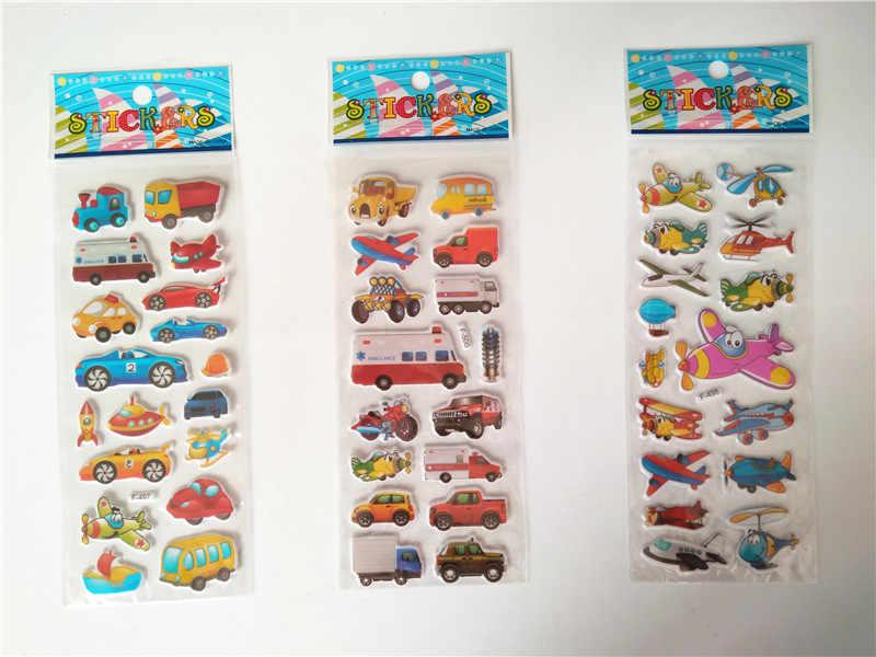 Happyxuan 36 листов 3D Kawaii выпуклые наклейки Автомобили мультфильм дикие животные динозавры игрушки для мальчиков детские награды для школы