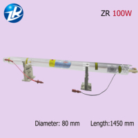 100W Laser Tube 1450mm length with CE and ROHS