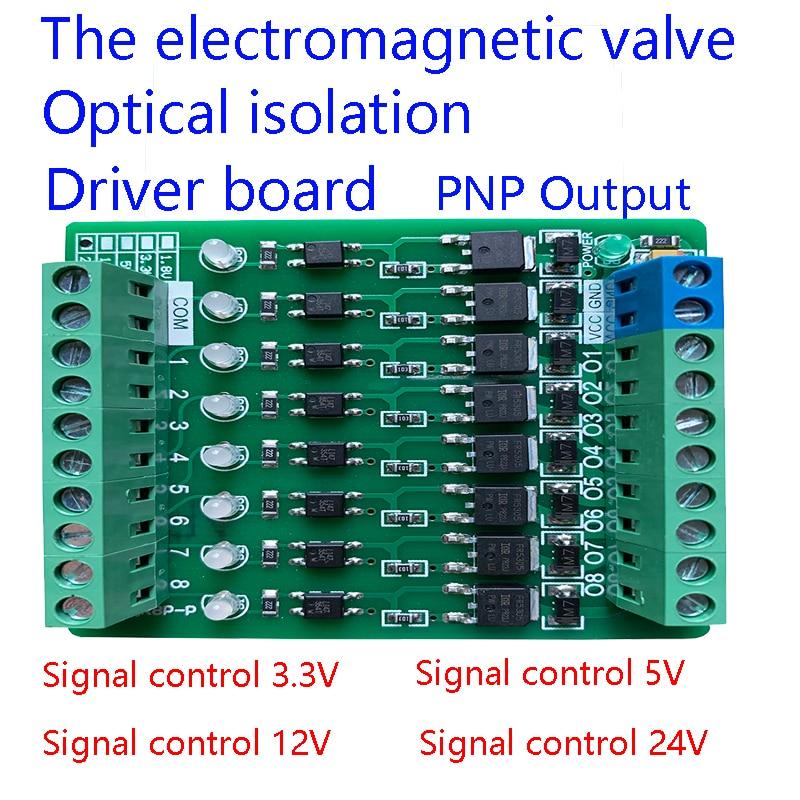 AL-ZARD 8  16 Channel Electromagnetic Valve Micro Controller PLC Output Amplifier Board Transistor Extension Board PNP 3.3~24V