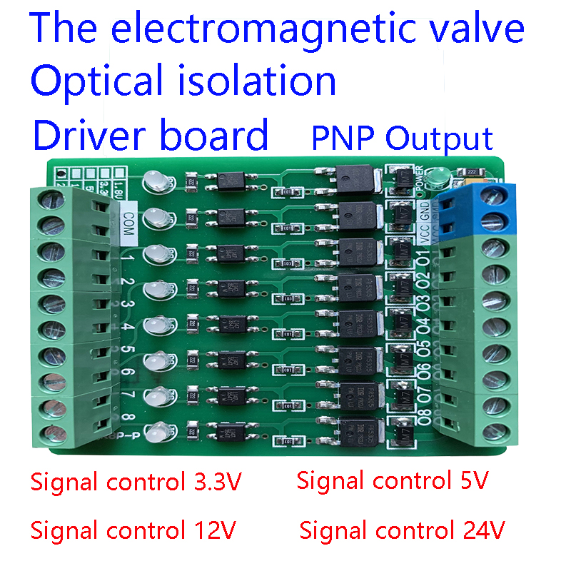 AL-ZARD 8 Channel Electromagnetic Valve Micro Controller PLC Output Amplifier Board Transistor Extension Board PNP 3.3~24V