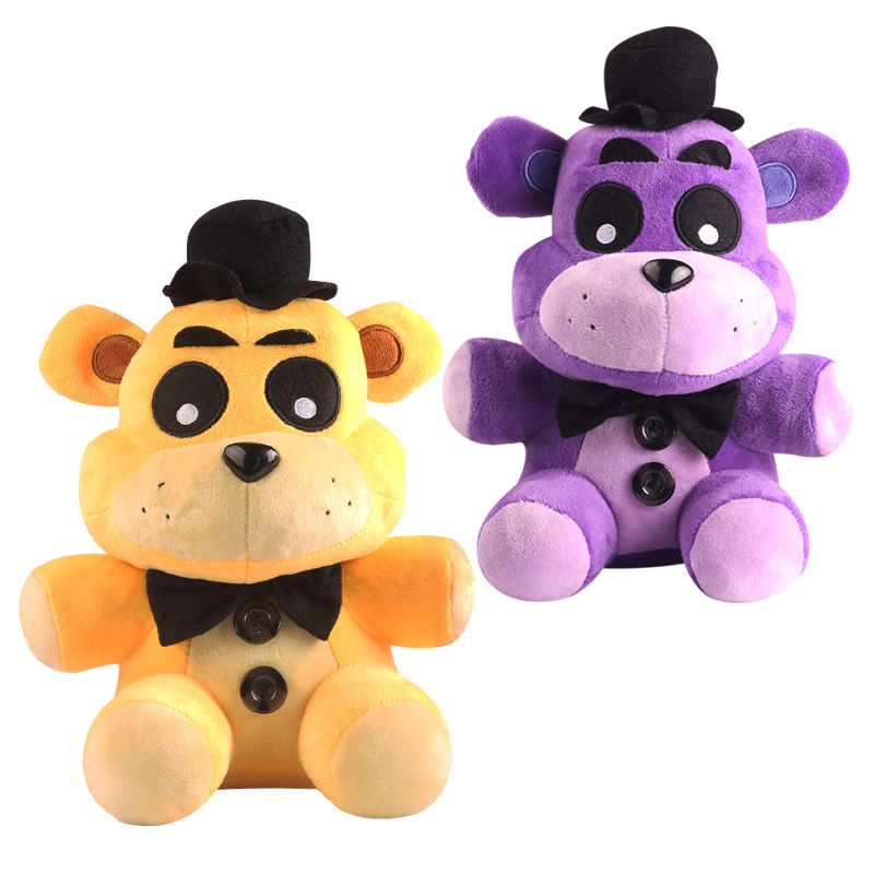 2pcs/lot Freddy Fazbear Bear Plush 25cm FNAF Five Nights At Freddy's Teddy Bear Plush Stuffed Toys Doll for Kids With Tag